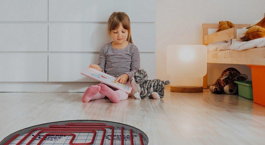Underfloor heating to heat your kids room