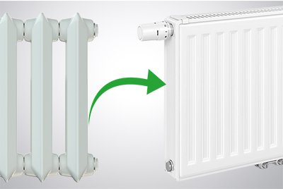 Replace boilers and radiators for new ones